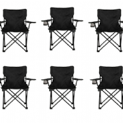 Black Camping Chair (Box of 6)